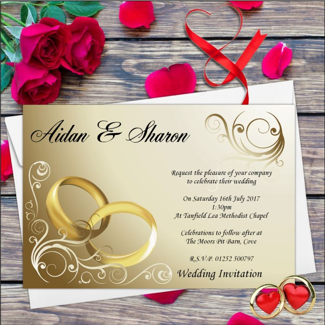 Printed Wedding Invitations 10 Personalised Wedding Invitations Day Or Evening N8