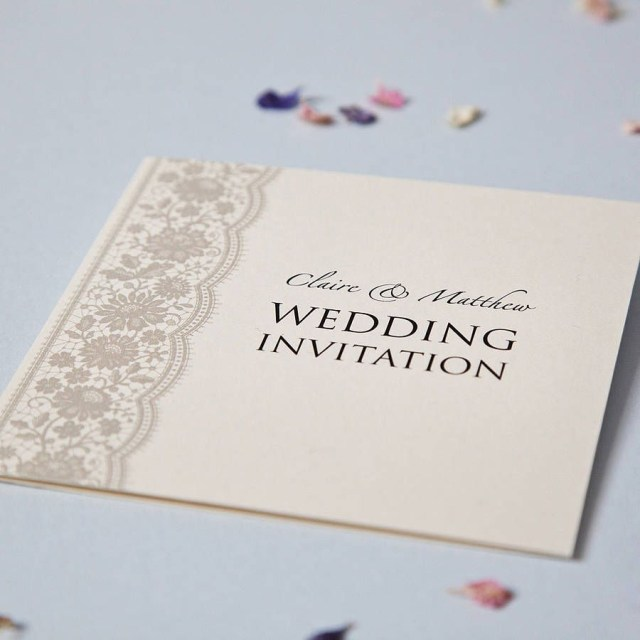 Printed Wedding Invitations Personalised Lace Wedding Invitation Set Wedding Invitation Sets