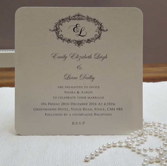 Printed Wedding Invitations Victorian Personalised Wedding Invitations Beautiful Day