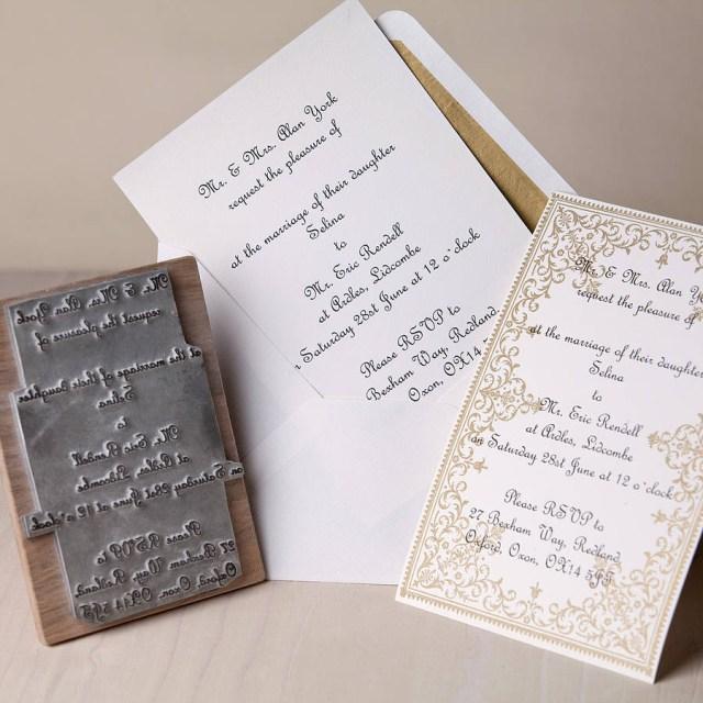 Printed Wedding Invitations Wedding Invitation Stamp English Stamp Company