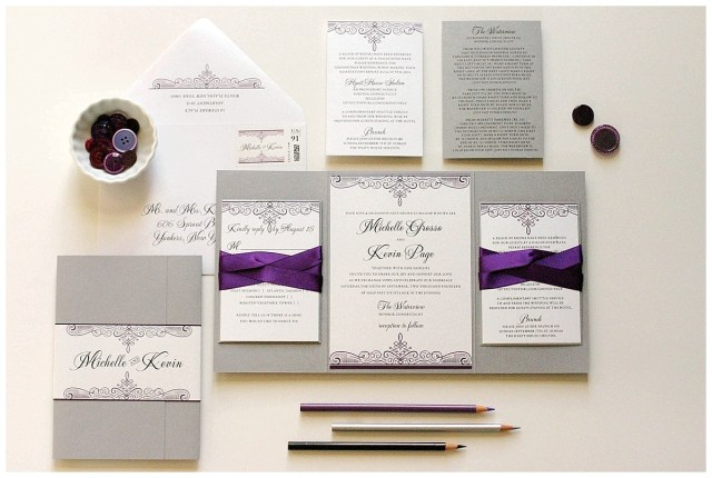 Purple And Silver Wedding Invitations Purple And Silver Wedding Invitations Gourmet Invitations