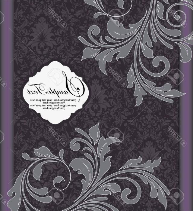 Purple And Silver Wedding Invitations Top Purple Silver Floral Wedding Invitation Card Library
