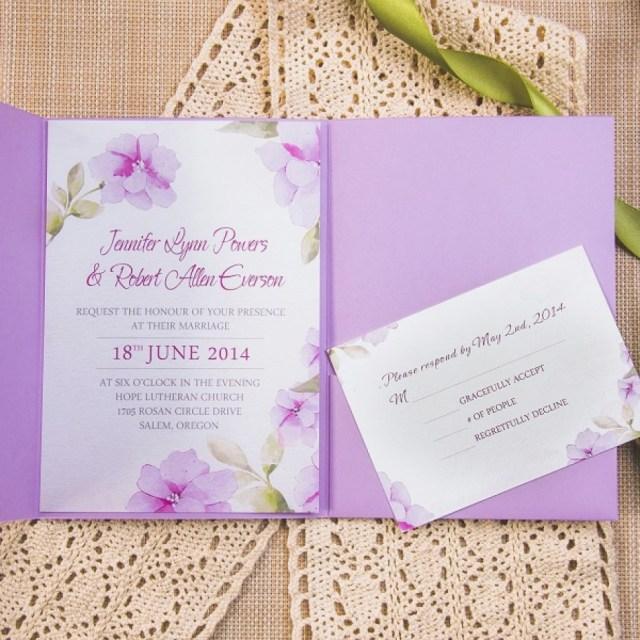 Purple Wedding Invitation Kits Purple Wedding Invitations Kits Fresh Exquisite Watercolor Flower