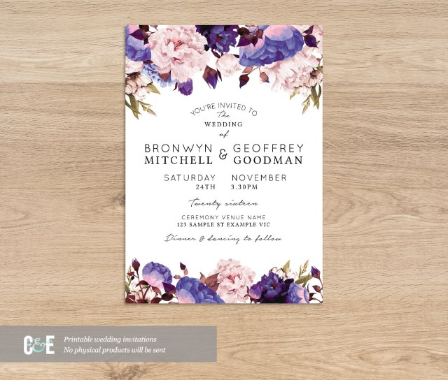 Purple Wedding Invitation Kits White Camo Wedding Invitations Elegant Blank Wedding Invitation Kits