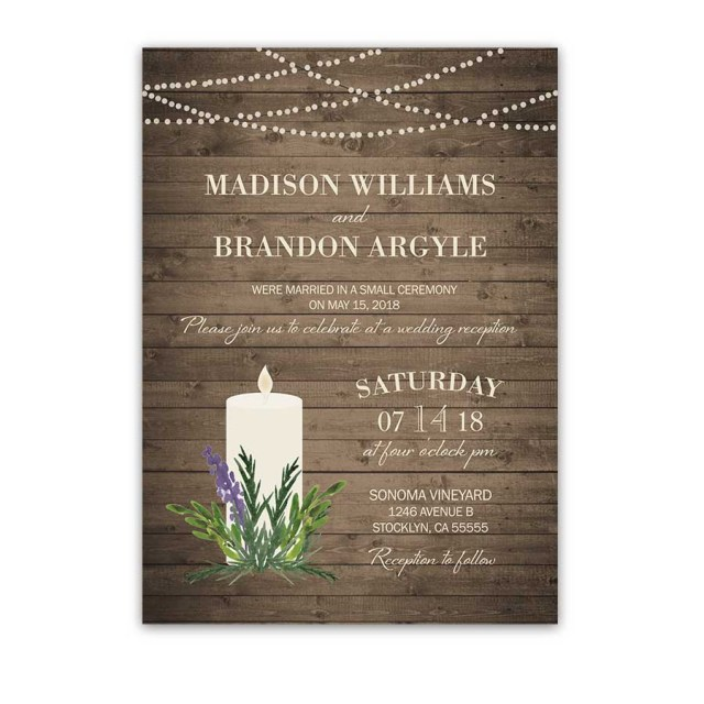 Reception Only Wedding Invitations Rustic Greenery Wedding Reception Only Invitation