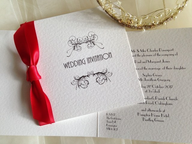 Red Wedding Invitations Red Wedding Invitations Red Wedding Invites From 85p