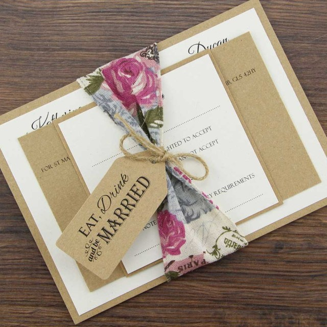 Rustic Chic Wedding Invitations Diy Chic Chic Wedding Invitations Wedding Ideas