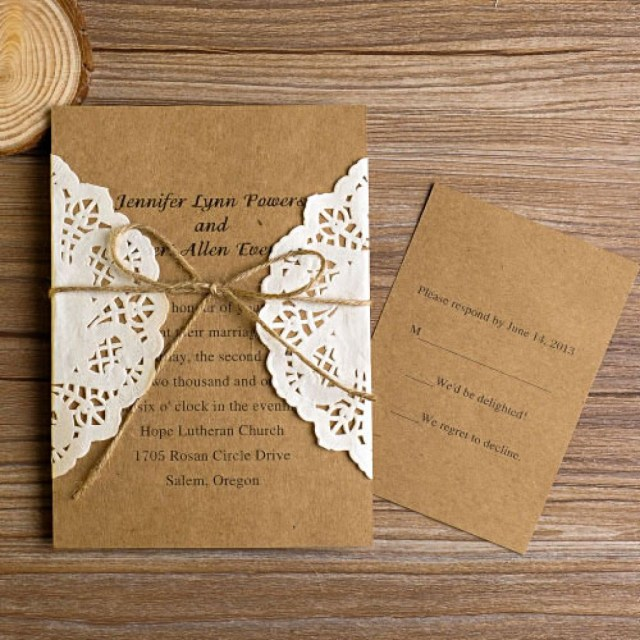Rustic Chic Wedding Invitations Diy Gorgeous Diy Wedding Invitations Diy Wedding Invitations