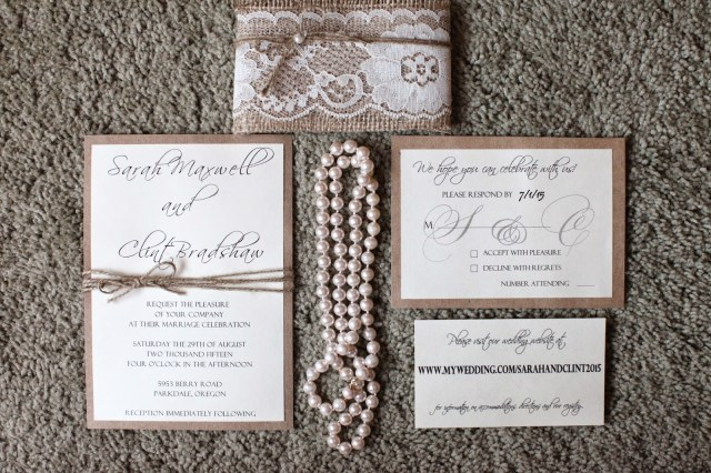 Rustic Chic Wedding Invitations Diy His Hers And Ours Diy Rustic Chic Wedding Invitations
