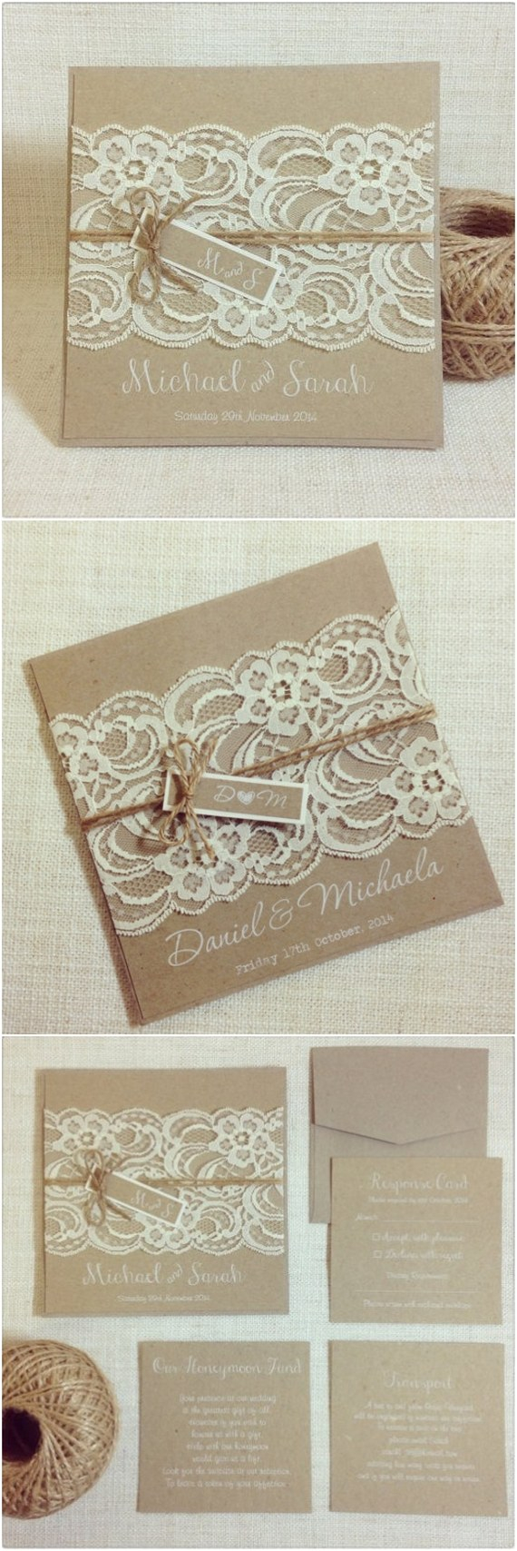 Rustic Lace Wedding Invitations 15 Rustic Wedding Invitations From Etsy Deer Pearl Flowers