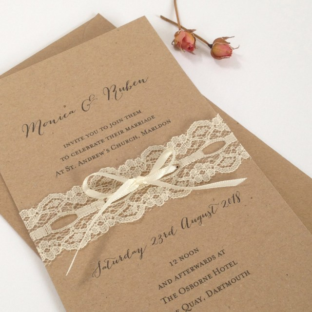 Rustic Lace Wedding Invitations Lace Wedding Invitation Rustic Lace Wedding Invites Rustic Etsy