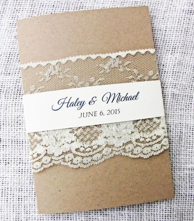 Rustic Lace Wedding Invitations Rustic Wedding Invitation Lace Wedding Invitation Rustic Lace
