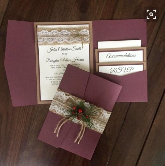 Rustic Vintage Wedding Invitations Simple Wedding Invitations Winter Wedding In 2018 Pinterest
