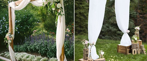 Rustic Wedding Altars 25 Chic And Easy Rustic Wedding Arch Ideas For Diy Brides
