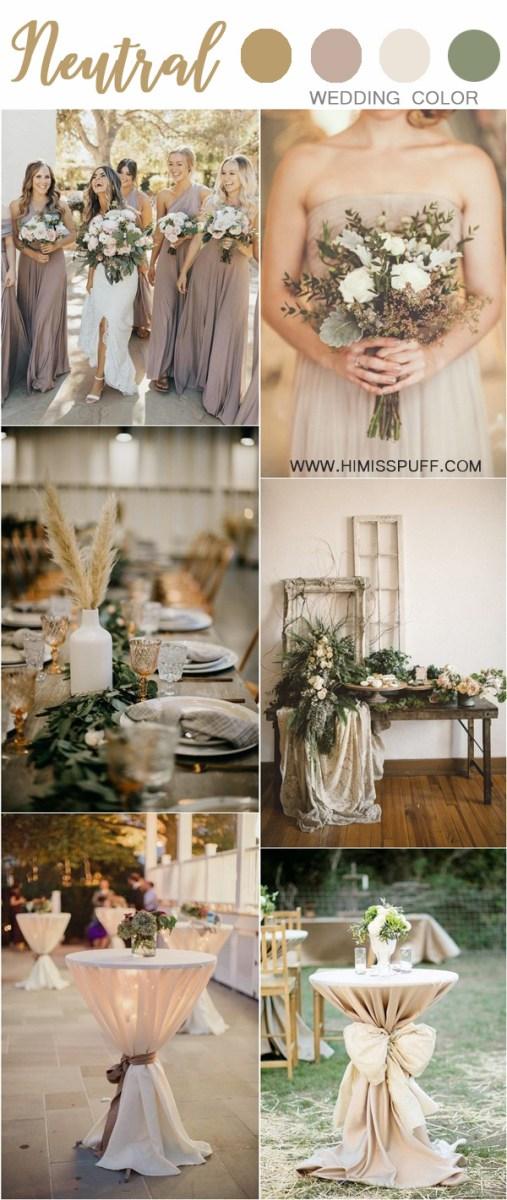 Rustic Wedding Colors 30 Chic Neutral Fall Wedding Color Ideas Hi Miss Puff