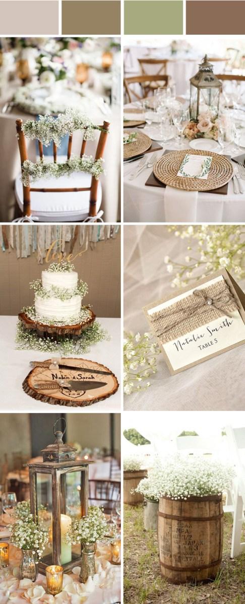 Rustic Wedding Colors Top 10 Elegant And Chic Rustic Wedding Color Ideas Stylish Wedd Blog