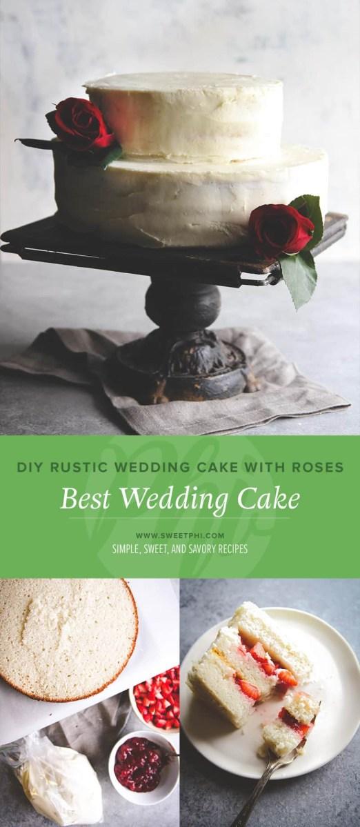 Rustic Wedding Diy Diy Rustic Wedding Cake With Roses Best Wedding Cake Diy Wedding