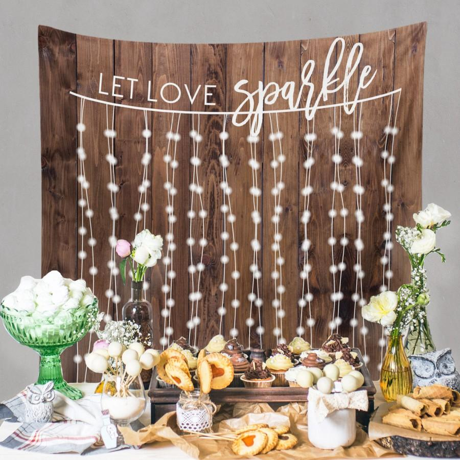 Rustic Wedding Diy Rustic Wedding Backdrop Custom Tapestry Dessert Table Banner