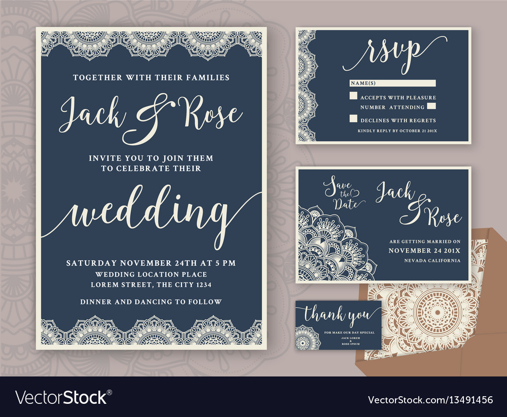 Rustic Wedding Invitation Rustic Wedding Invitation Design Template Vector Image
