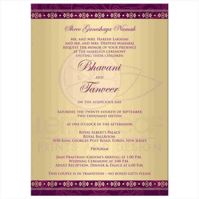 Sample Wedding Invitation Wedding Invitations No Gifts Wording Monetary Inspirationa