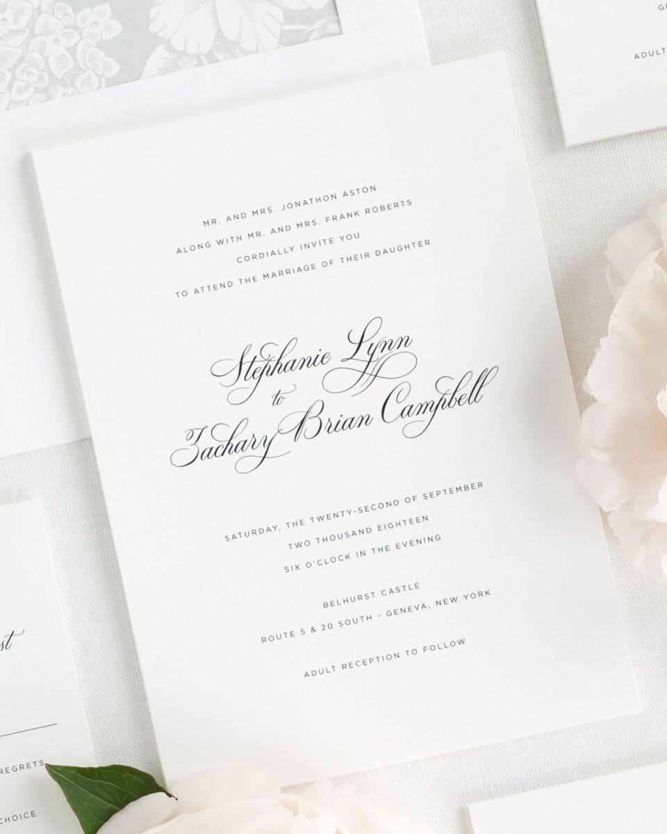 Simple Elegant Wedding Invitations Delicate Elegance Wedding Invitations Wedding Invitations Shine