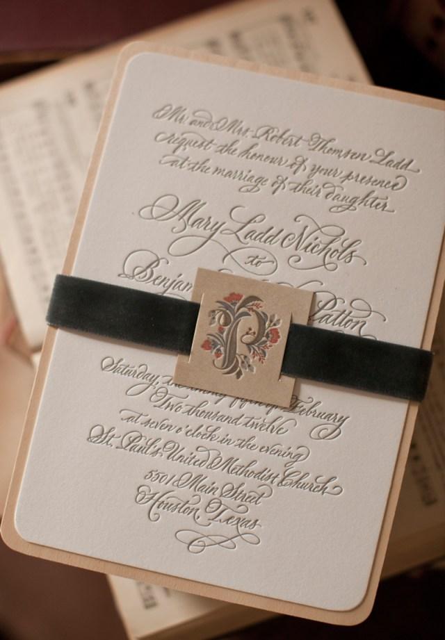 Simple Elegant Wedding Invitations Mary Bens Elegant And Rustic Letterpress Wedding Invitations