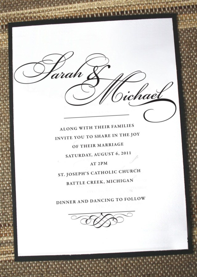 Simple Elegant Wedding Invitations Simply Elegant Wedding Invitation Anna Malie Design On Etsy