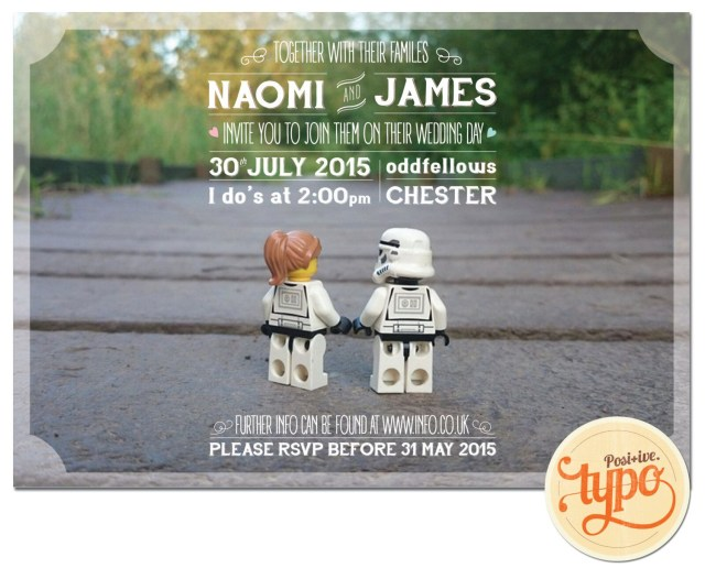 Star Wars Wedding Invitations Printable And Customisable Star Wars Lego Wedding Invitation