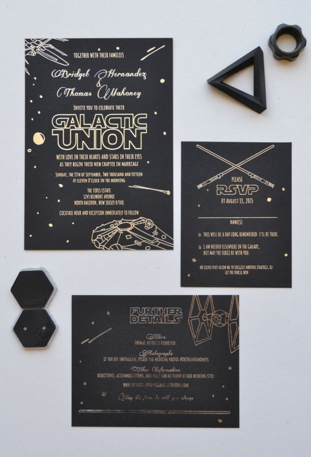 Star Wars Wedding Invitations Star Wars Wedding Suite Designed And Printed Ladybones Print