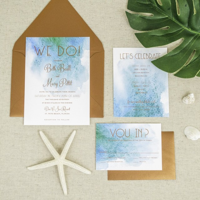 Starfish Wedding Invitations Beach Themed Wedding Invitations Ingeniocityco