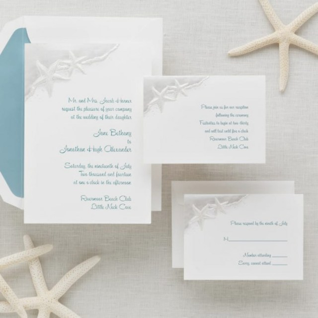 Starfish Wedding Invitations Starfish Wedding Invitations Elegant Starfish Wedding Invitation