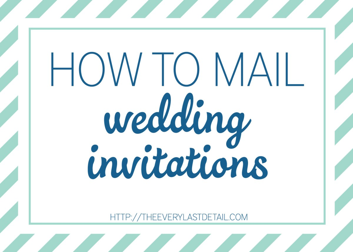 Stuffing Wedding Invitations Mailing Wedding Invitations Every Last Detail