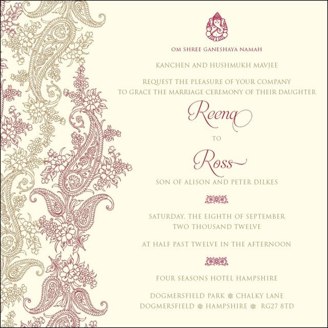 Stuffing Wedding Invitations New Pakistani Wedding Invitations Gallery Stmexhibit