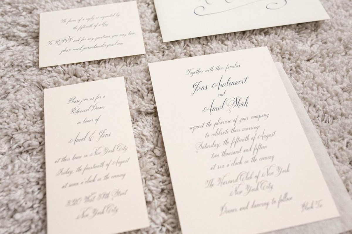Stuffing Wedding Invitations Wedding Etiquette Assembling The Invitation Enclosures Crane Post