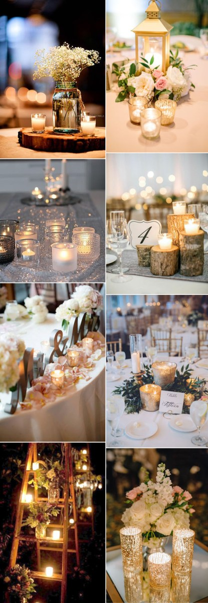 Table Lights Wedding 50 Fancy Candlelight Ideas To Add Romance To Your Weddings