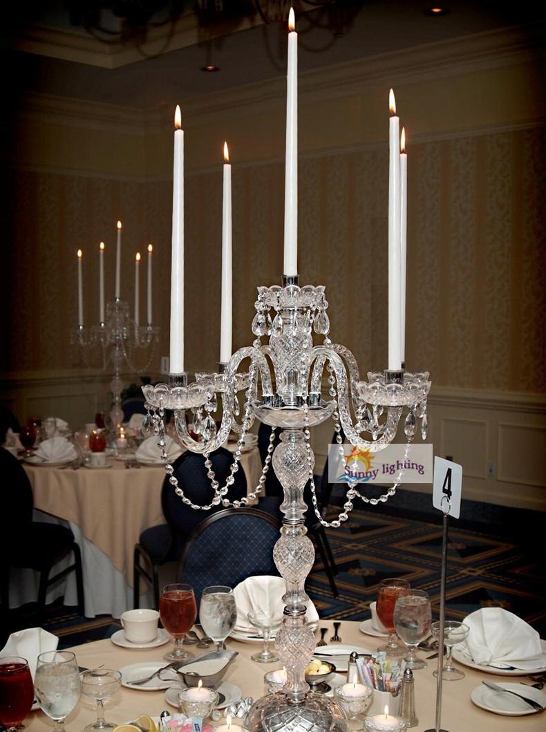 Table Lights Wedding Big Restaurant Crystal Glass Table Lamp Candelabra Wedding Led