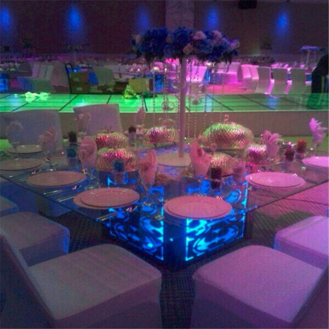 Table Lights Wedding Waterproof Led Decorative Table Lamps Wedding Party Decoration Under