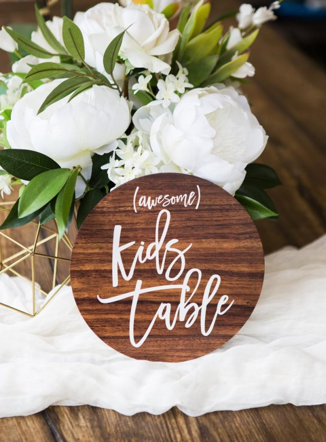 Table Wedding Decor Kids Table Wedding Sign Wooden Style Sign For Wedding Decor Etsy