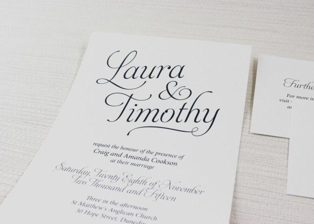 Traditional Wedding Invitation Simple Script Navy Traditional Wedding Invitation Be My Guest