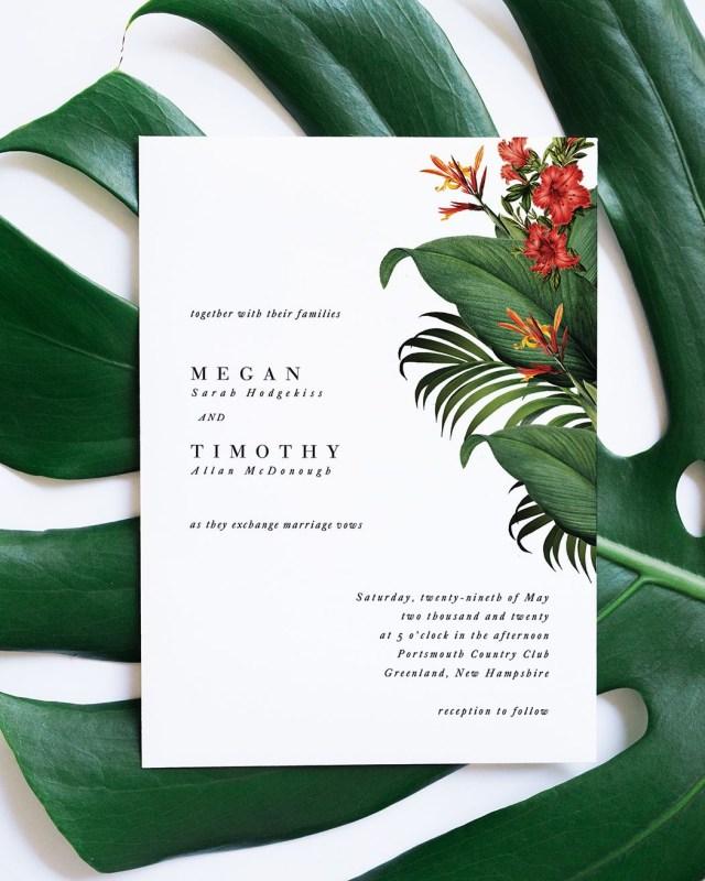 Tropical Wedding Invitations Invitation Wedding Planner Wedding Invitations Wedding Invitations