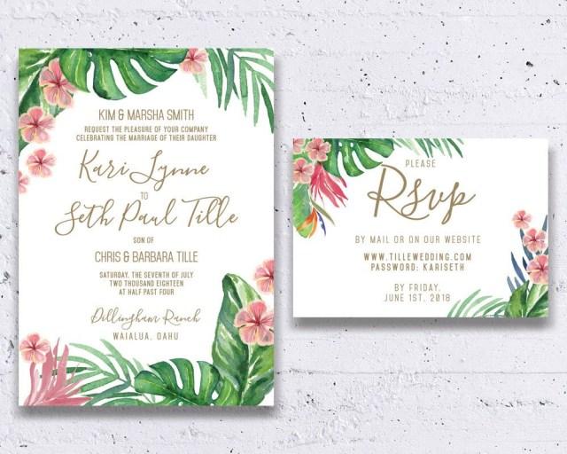Tropical Wedding Invitations Pin Kari Ann On November 20 2016 Wedding Wedding Invitations
