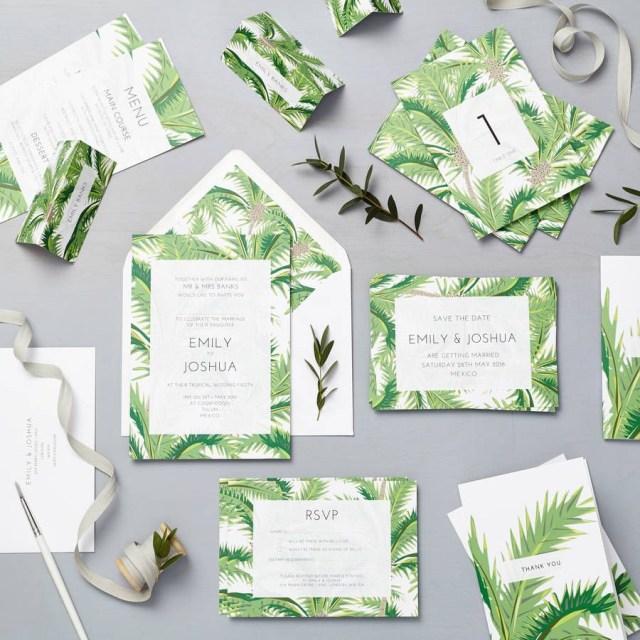 Tropical Wedding Invitations Tropical Wedding Invitations Tropical Wedding Invitations An In