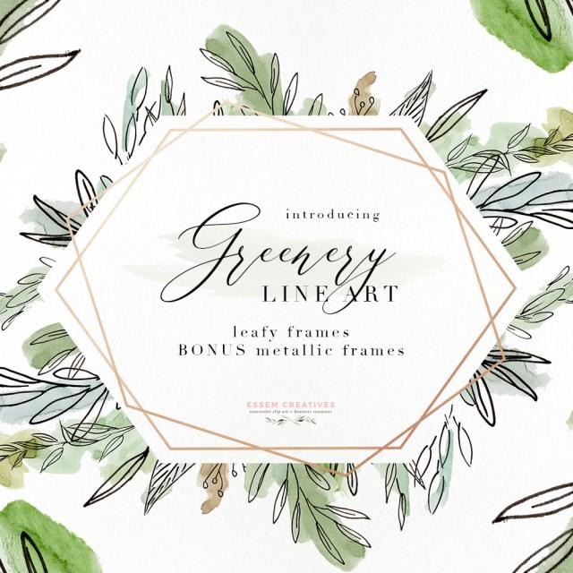 Tropical Wedding Invitations Watercolor Greenery Line Art Png Clipart Tropical Rustic Botanical