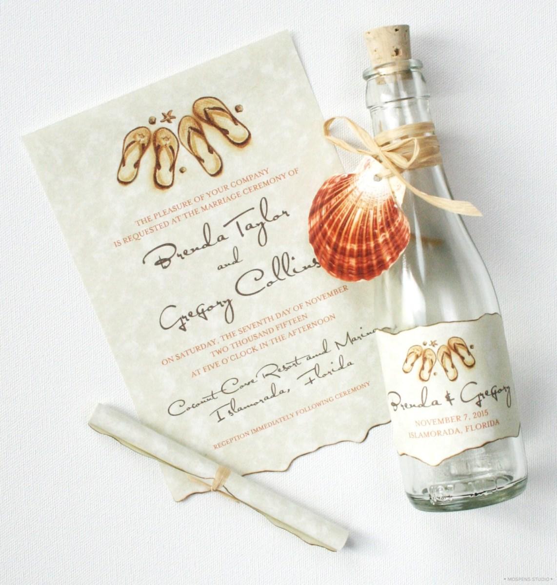 Unique Wedding Invitation Ideas 21 Bottle Beach Wedding Invitation Ideas Custom Invitations