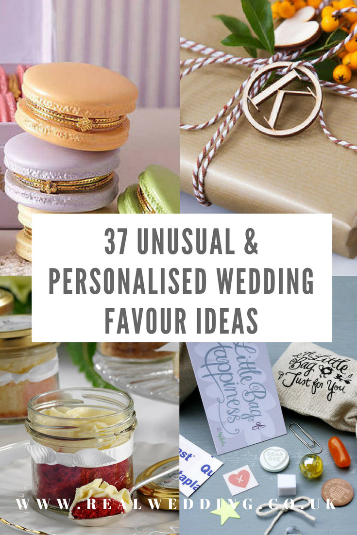 Unusual Wedding Ideas 37 Unusual Personalised Wedding Favour Ideas Real Wedding