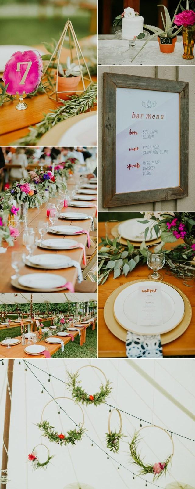 Upcycled Wedding Decorations 9 Couples Who Nailed Their Diy Weddings Junebug Weddings