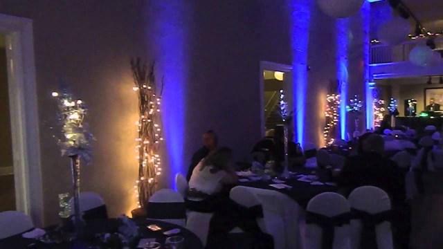 Uplighting Wedding Diy Blue Uplighting Before After Youtube