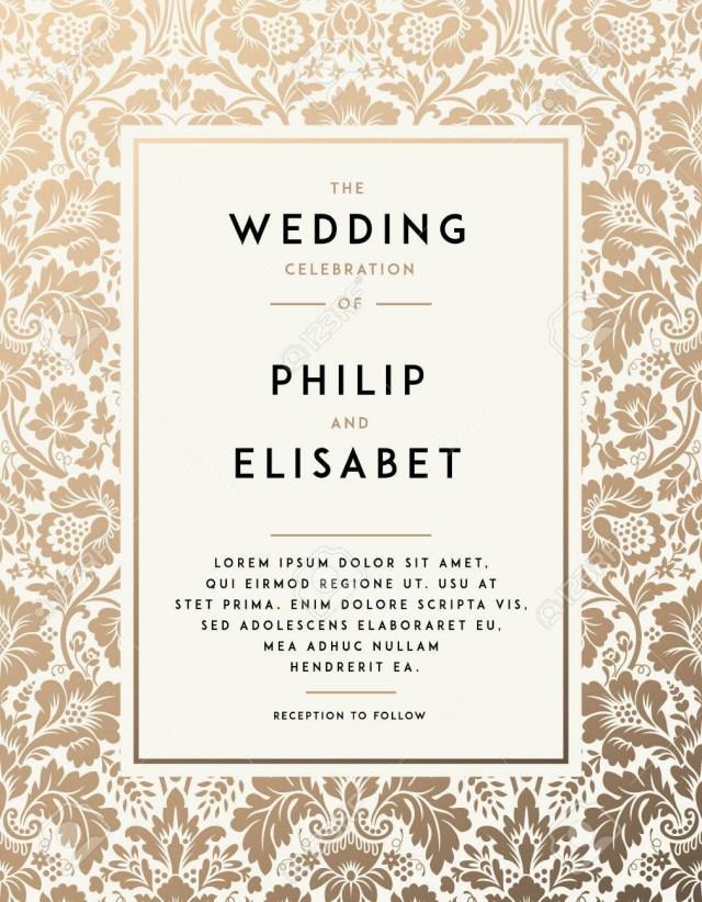 Vintage Wedding Invitation Templates Vintage Wedding Invitation Template Modern Design Wedding