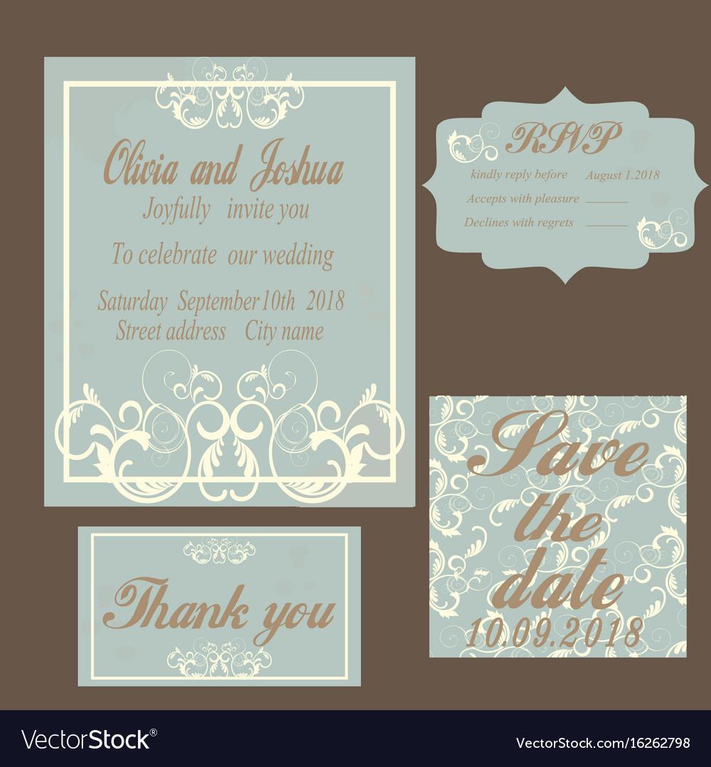 Vintage Wedding Invitation Templates Vintage Wedding Invitation Template Royalty Free Vector