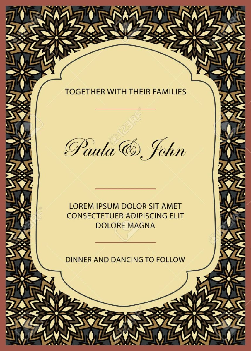 Vintage Wedding Invitation Templates Vintage Wedding Invitation Template Save The Date Card Trendy